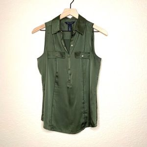 WHBM Green Blouse like new